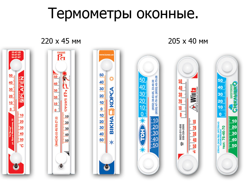 види термометрів фото
