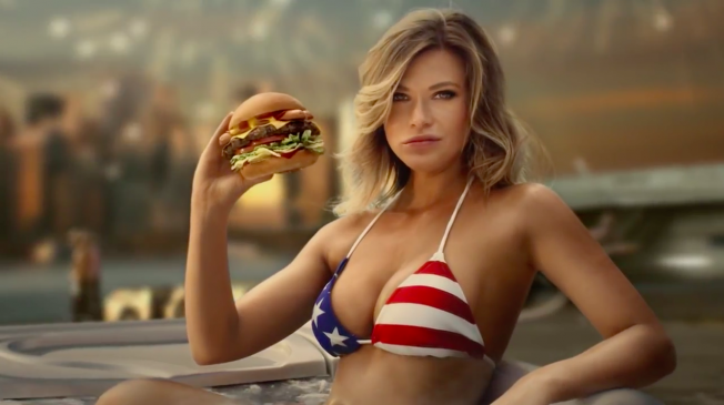 an analysis of the use of womens body to sell burgers on the carls jr ads